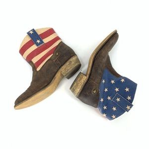 American Flag Booties Short Boots Patriotic USA